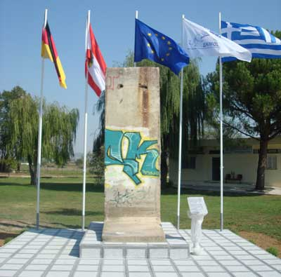 Την απομάκρυνση του τείχους του Βερολίνου από το χώρο των Λουτρών ανακοίνωσε ο Δήμαρχος Λαγκαδά