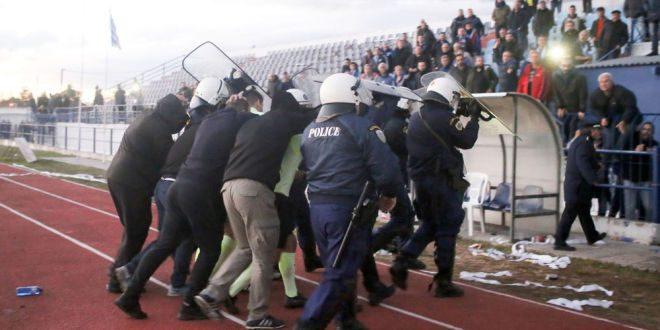 Eπεισόδιο και τραυματισμός οπαδού στο ΑΠΕ Λαγκαδάς-Ηρακλής (ΦΩΤΟ)